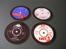 T Rex Marc Bolan Singles Collection 45 Great New Drinks COASTER Set