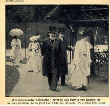 Fürst & Fürstin v.Radlin beim Polospiel in Park Schloß Bagatelle c.1905