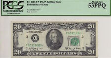 1963A $20 STAR FEDERAL RESERVE NOTE, FR.2066-C* PCGS ABOUT NEW 53PPQ