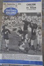 1973 VFL FOOTBALL RECORD CARLTON ST.KILDA RND22