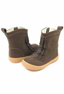 NIB LIVIE & LUCA Boots Pepper Mocha Suede Leather Toddler 4