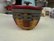 New Listing2000 Longaberger Small All American Bowl Basket w/Protector and Star Wooden Lid