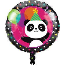 "PANDA-MONIUM 18"" Mylar BALLOON Panda Bear Birthday Party Supplies Decoration"