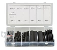 127pc Heat Shrink Tubing Sleeving Assortment Electrical Wire Insulation Black