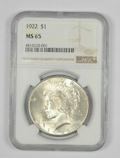 1922 Peace Silver Dollar - Graded MS65   NGC.  LOW SHIPPING!!
