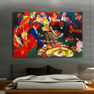 Home Wall Art Print Decor Canvas Painting LeRoy Neiman Roulette II 16x20