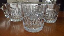 Crystal WHiskey glasses Vertical cut lines star bottom 8 10 ounce flat bottom