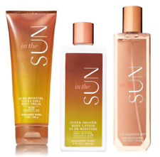 3pc Bath & Body Works IN THE SUN Fragrance Mist-Body Lotion-Body Cream FREE SHIP