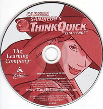Carmen Sandiego Think Quick Challenge Educational Game - Windows PC & Mac NEW CD