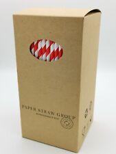 More details for 500 paper straws bulk paper straws uk made 6mm   500 /1000 / 5000 compostable