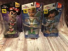 DISNEY INFINITY 2.0 3.0 Lot Minnie Mouse Jasmine Tinker bell With Original Boxes