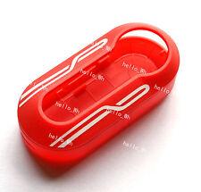 Red Stripe Hard Case Cover Combined Shell For Fiat 500 Brava Panda Folding Key