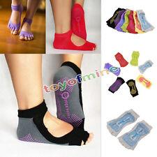 Yoga CALZE anti scivolo PILATES MASSAGGIO 5Toe Socks con grip Esercizio Palestra