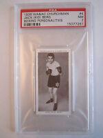 """1938 JACK """"KID"""" BERG BOXING CHURCHMAN PSA GRADED 7 NEAR - MINT CARD"""