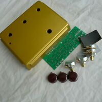 DIY Overdrive Effects Pedal Project Box Case With PCB/Pots/Wire Kits Gold