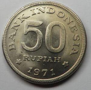 Indonesia 50 Rupiah 1971 Copper-Nickel KM#35 UNC
