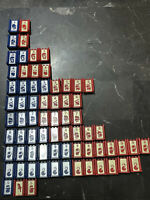 Game Parts Pieces Stratego 1986 Milton Bradley 71 Red Blue Army