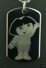 Dora the Explorer  Dog Tag Pendant Necklace