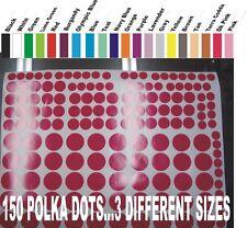 150 Vinyl Wall Art Polka Dot Circles Decals Stickers ( 2 COLORS) patternsrus)