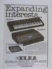 retro magazine advert 1986 ELKA ek22 , expanders etc