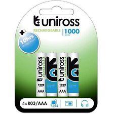 UNiROSS 4 x AAA 1000 SERIES  RECHARGEABLE BATTERIES