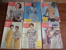 LE PETIT ECHO DE LA MODE Lot de 13 revues ANNEE 1956