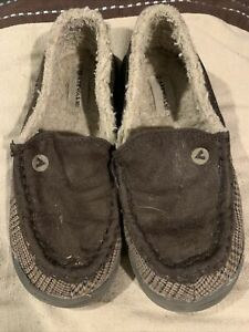 Airwalk Size 13 Youth Fur Lining Shoes Slip On Brown