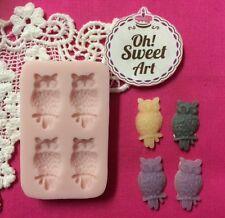 Owls owl  silicone mold fondant cake wax soap food decorating cupcake molds FDA