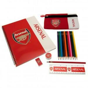 ARSENAL FC 19 PIECE ULTIMATE STATIONARY SET NOTEPAD PENCIL ERASER & MORE