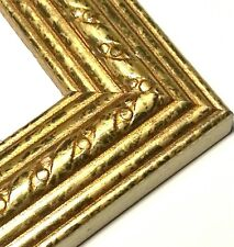 32 ft - Gold Picture Frame Moulding Lengths, Wood, Ribbon & Lines, Crown Profile