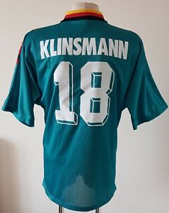 Germany 1994-1996 Away football Adidas Player Issue shirt #18 Klinsmann size XL