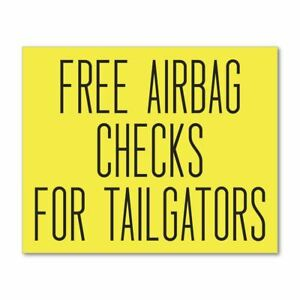 Free Airbag Checks Sticker Decal Waterproof Outdoor Car Window Funny