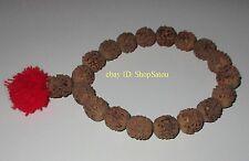 NEW Buddhist Large Rudraksha Bodhi Seeds 18+1 Yoga Meditation Prayer Beads 18mm