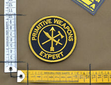 "Ricamata / Embroidered Patch ""Primitive Weapons"" Black with VELCRO® brand hook"
