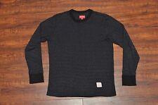 Supreme Micro Stripe Long Sleeve Tee T-Shirt Dark Heather Grey Small S Box CDG