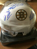 Boston Bruins 2010-2011 Stanley Cup Champions Signed Mini Helmet Milan Lucic