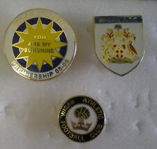 WIGAN ATHLETIC FOOTBALL CLUB Pin Badges x 3, Lot 2 PREMIERSHIP 05 - 06