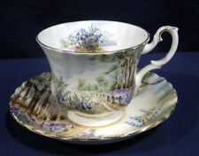 Royal Albert Bone China Country Scenes Bluebell Wood Tea Cup and + Saucer Set