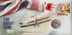 PNC Australia 2017 The Great War 1917 UK Royal Mint £2 Coin Limited Edition 2500