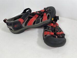 Keen Newport H2 Black Red Outdoor Water Sandals Shoes 1014258 Unisex Kids Size 5