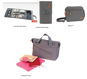 """Stm Cable Wrap, 7"""" Tablet iPad Case 13"""" Or 15"""" Laptop Notebook Bag Carry Case"""