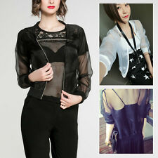 New Fashion Organza Jacket Coat Chiffon Shirt Sun Protection Clothing Baseball