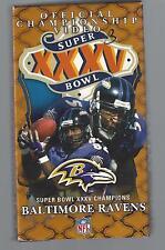 baltimore ravens super bowl xxv official championship video sb 35 nfl VHS