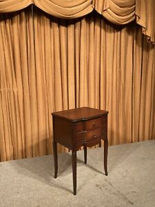 Antique Vintage Perfect Sewing Cabinet Use 2 Drawer 4 Legs Wooden Sewing Stand