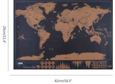 Scratch Off Map World Deluxe Personalized Travel Poster Travel Gift