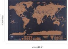 Retire mapa mundo Póster de viajes de lujo personalizado viajes de regalo