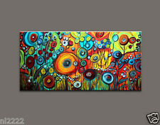 YAKAI Large Modern Abstract Hand-Painted Oil Painting on Canvas No frame 30x60in