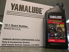 Yamalube Genuine Oil 1 Case 12 Quarts 2S Two Stroke Blaster Zuma 50 PW50 PW80