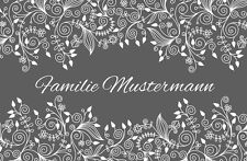 FUßMATTE Ornamente Fussmatten Fußabstreifer NAME TÜRVORLEGER SCHMUTZFANGMATTE