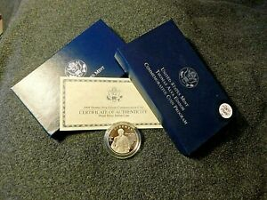 2004 Thomas Edison Silver Proof Dollar w/Box COA